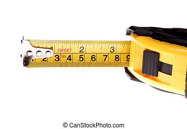 Tape measure - High view, Yellow and black tape measure...