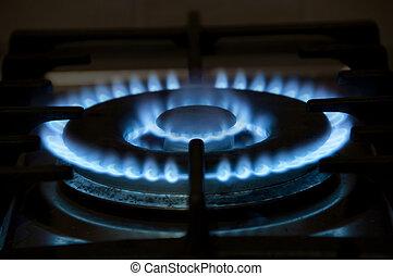 Gas Burner - Gas burner on a stove