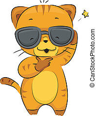 Cool Cat - Illustration of a Cool Cat