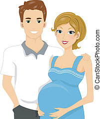 Expecting Parents - Illustration of Expecting Parents...