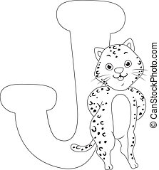 Coloring Page Jaguar - Coloring Page Illustration Featuring...