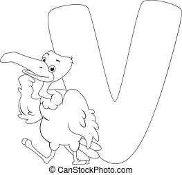 Coloring Page Vulture - Coloring Page Illustration Featuring...