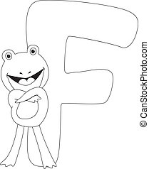 Coloring Page Frog - Coloring Page Illustration Featuring a...