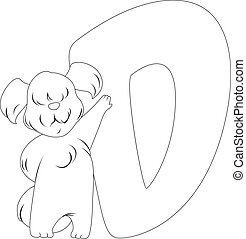 Coloring Page Dog - Coloring Page Illustration Featuring a...