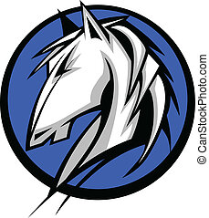 Mustang Stallion Graphic Mascot Vec - Graphic Mascot Vector...