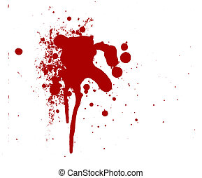 Blood Splatters Drips that can be color changed into slime...