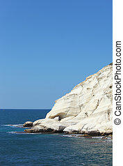 . White rocks Rosh-a-Nikra in the early spring - . White...