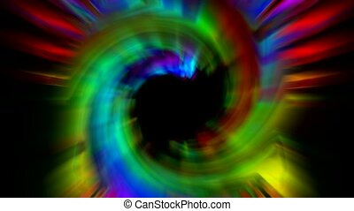 swirl rays laser and fire in space