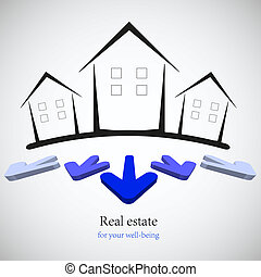 concept real estate for your business. Vector illustration....