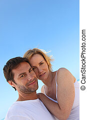 Couple on a sunny day