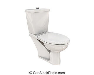 wc isolated on white background