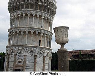 propensión, torre, Pisa, -, Uno, iconos, refinado,...