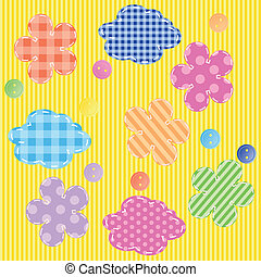 scrapbooking elements seamless pattern