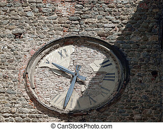 Pistoia - old church clock