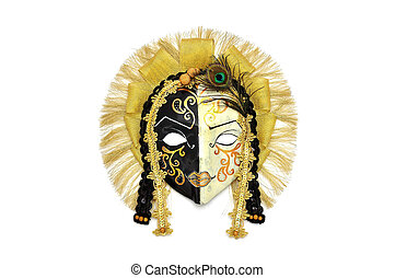 Venice mask on a white background