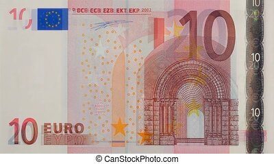 euro currency with all banknotes