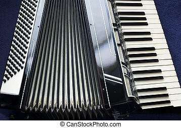 Accordion  - A piano accordion musical instrument