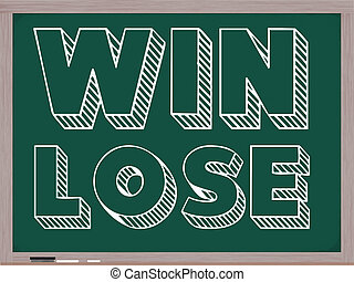 Win Lose Blackboard - Win Lose concept written in white...