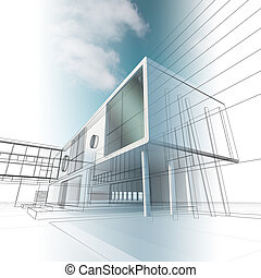 Construction architecture. High quality 3d render