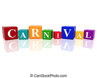 carnival in 3d cubes