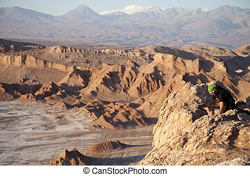 Moon Valley in Atacama desert near San Pedro de Atacama