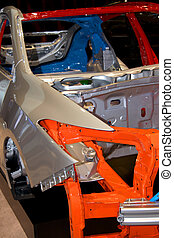 Car body steel structure - Automotive body shell detail...