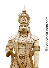 Hanuman - Hindu god Hanuman statue against white background