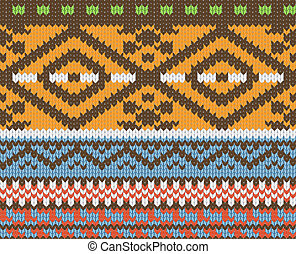 knitted pattern vector - Seamless knitted pattern for winter...
