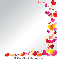 Valentine hearts with colorful - Postcard - Valentine, on a...