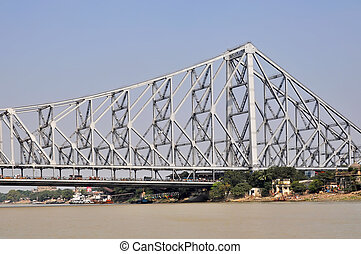 Howrah Bridge - View of a Howrah Bidge in Kolkata India.