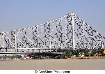 Howrah Bridge - View of a Howrah Bidge in Kolkata India.