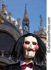 Skull, Venice carnival - Skull, Mask in the Venice carnival