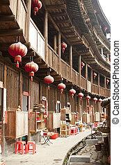 wewnętrzny, Tulou, Fujian, Porcelana