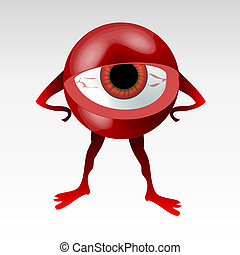 Upset eyeball