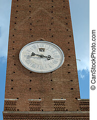 Siena - clock face from Torre Del Mangia