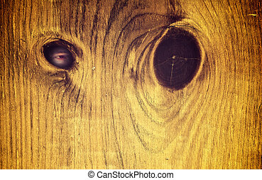 Creepy eye peeking through hole - Conceptual image with a...
