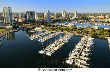 St. Pete Aerial View - Aerial view of St. Petersburg,...