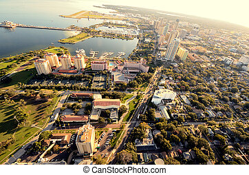 St Pete Aerial View - Aerial view of St Petersburg, Florida...
