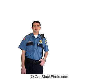 Officer - An officer in uniform on a white background
