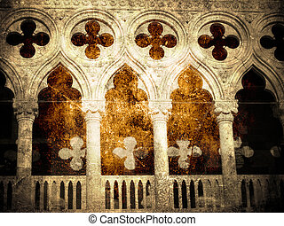 Doge palace fragment - Doge palace fragment- vintage and...