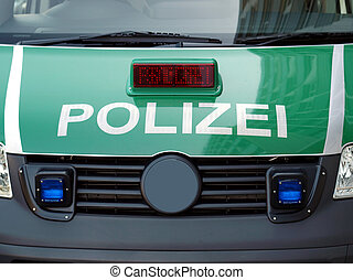 German police car - Typical German police car with text...