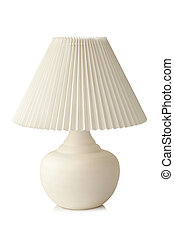 White table lamp on a white background