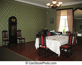 Old Room interior - Dining room interior in an historic home