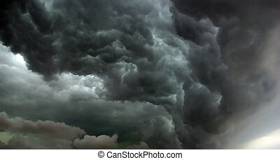 Hurricane is comming - Heavy leaden thunderclouds before the...