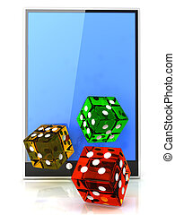 Game Pad - A Tablet PC / Pad. 3D rendered illustration.