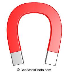 Magnet - A generic Magnet. 3D rendered illustration....