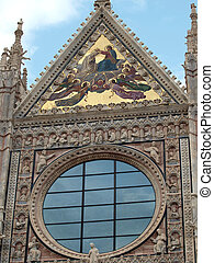 Siena - Duomo, Details of the western facade