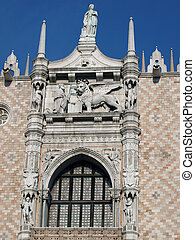Venice - Doges Palace facade seen from St Marks Square