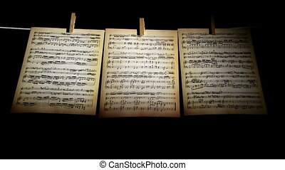 Sheet music, notes