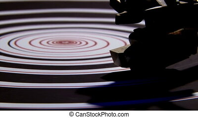 Record player, spiral